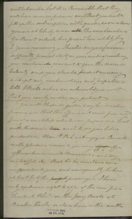 This is What Robert Fulton and 1806 Oct. 28 ALS Robert Fulton at Washington to John Stevens Looked Like  in 1790