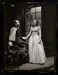 Two unidentified actorrs in the stage production Hamlet
