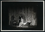 Maurice Evans and Lilia Darvas in the stage production Hamlet