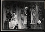 Lilia Darvas and unidentified actor in the stage production Hamlet
