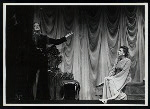 Maurice Evans and Lili Darvas in the stage production Hamlet