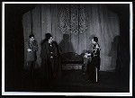 Maurice Evans and unidentified others in the stage production Hamlet