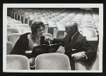 Dorothy Rodgers and Richard Rodgers (music) at a rehearsal for No Strings