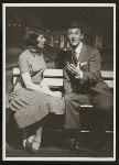 Kay Coulter (Frankie Frayne) and Bobby Van (Phil Dolan III) in the 1954 revival of On Your Toes