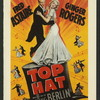 Promotional poster art for the motion picture Top Hat: modern halftone reproduction