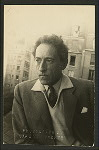 Jean Cocteau on the roof of a film studio
