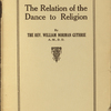 The relation of the dance to religion.