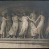 [Five dancers on a plinth.]