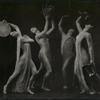 [Dancers with tamborines and water jug.]