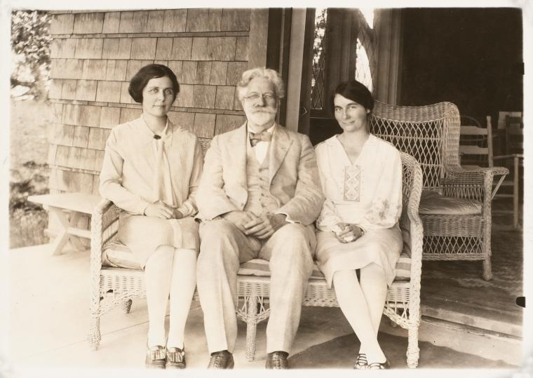 Photograph of Elizabeth Ames, George Foster Peabody, and Marjorie Peabody Waite