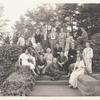 Group Photograph, 1935, outdoors on steps, Gregory and Zaturenska, first row