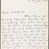 Letter of Newton Arvin to Elizabeth Ames, August 21, 1932