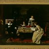 """Blind Milton dictating """"Paradise Lost"""" to his daughters"""