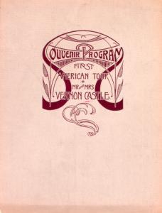 Souvenir program : first American tour, Mr. and Mrs. Vernon Castle.
