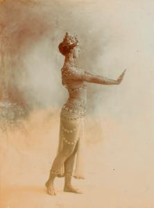 Ruth St. Denis in Radha, transitional costume.