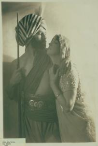 Ruth St. Denis in The Incense with Ted Shawn in costume of a hill tribesman from Keith-Orpheum vaudeville act.