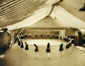 Denishawn group at Tent Theatre, first dance theater in America.
