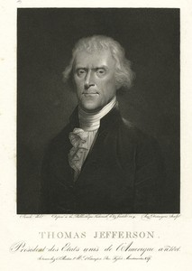 Thomas Jefferson, President des Etats Unis de l'Amerique / Aug. Desnoyers