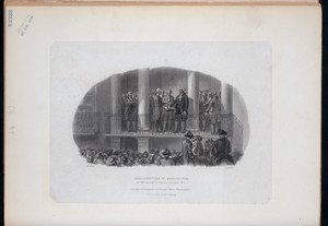 Inaugration of Washington, on the balcony of old City Hall, N.Y.