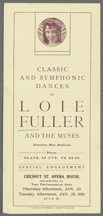 Loie Fuller and the Muses.
