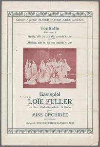 Tonhallle: Gastspiel Loie Fuller.