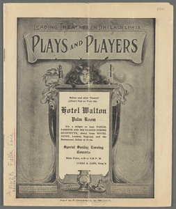 Plays and Players [at] Hotel Walton Philadelphia.
