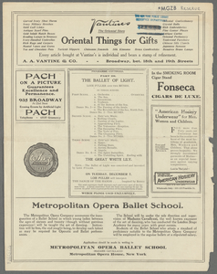 Metropolitan Opera House Grand Opera Season 1909-1910 [incomplete].