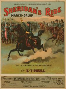 Sheridan's ride : descriptive march gallop / by E. T. Paull.