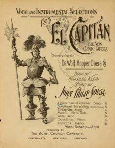 "A typical tune of Zanzibar : ditty from ""El capitan""/ words by Charles Klein ; music by John Philip Sousa."