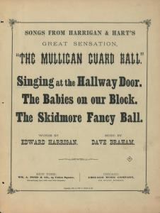 Singing at the hallway door : song and chorus / words by Ed. Harrigan ; music by Dave Braham.