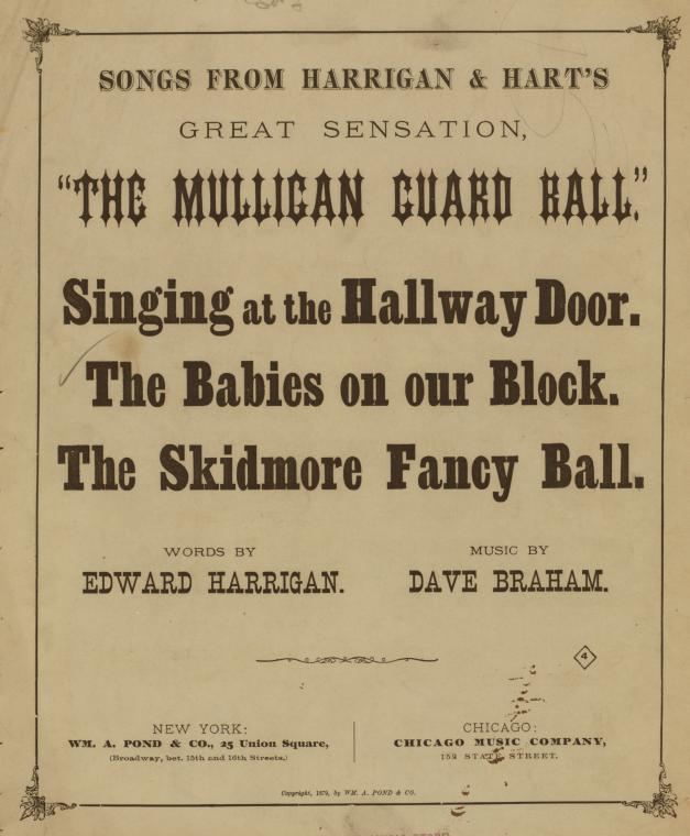 The babies on our block : song and chorus / words by Ed. Harrigan ; music by Dave Braham.