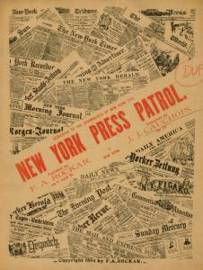 New York press patrol / [by] J. J. Cauchois. Op. 28