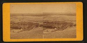View of Vegetable Garden at Old Town below Stockton Hill. Also showing lands that where flooded in the Storm of 1862.