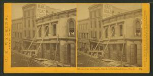 Effects of the Earthquake, Oct. 21, 1868, Railroad House, Clay St.