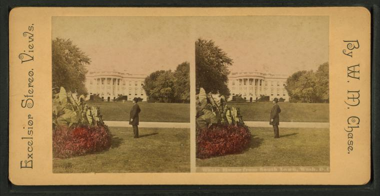 White House from south lawn, Wash. D.C.
