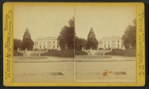 White House from U.S. Treasury, Washington, D.C.