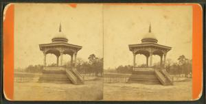 View of Music Stand, Central Park, Macon, Ga.