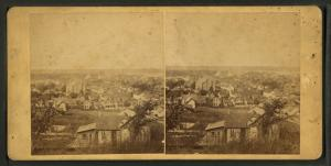 [General view of Moline showing homes, churches, and businesses.]