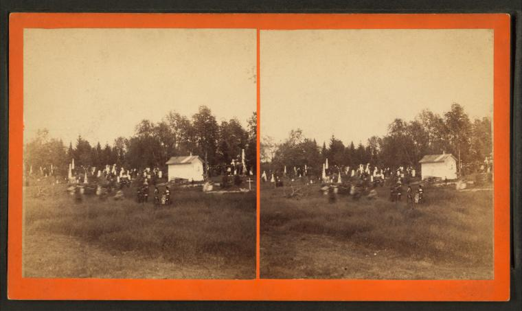 [Decoration day crowds at cemetery in Kirkwood.]