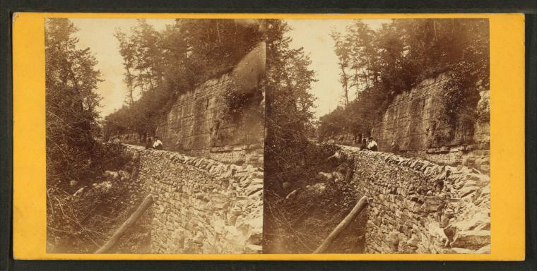 Stereoview of Shaker Ferry Road near Pleasant Hill Shaker Village
