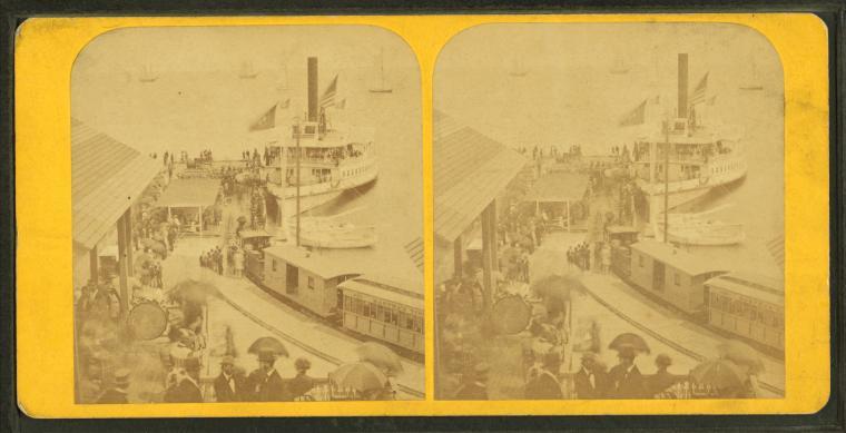 Oak Bluffs wharf.