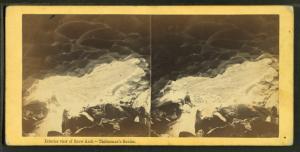 Interior view of Snow Arch, Tuckerman's Ravine.