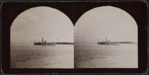View of the steamer 'Mohawk,' Hudson River, Lona Island.