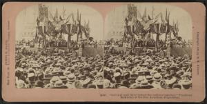 """God and man have linked the nations together."" President McKinley at the Pan American Exposition."