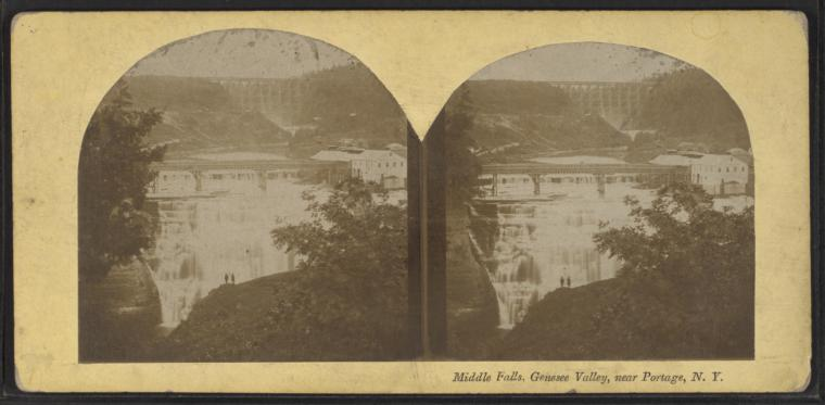 Middle Falls, Genesee Valley, near Portage, N.Y.