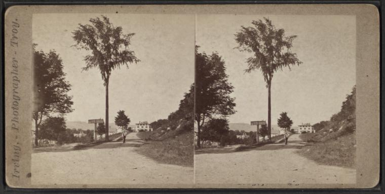 Stereoview of Mt. Lebanon Shaker Village Looking N.W. from Office