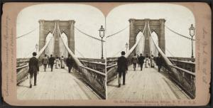 On the Promenade, Brooklyn Bridge, N.Y., U.S.A.