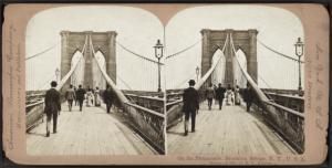 On the Promenade, Brooklyn Bridge, N.Y., U.S.A.