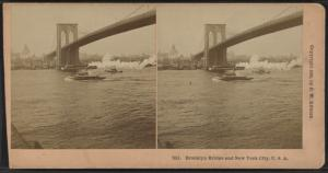 Brooklyn Bridge and New York City, U.S.A.