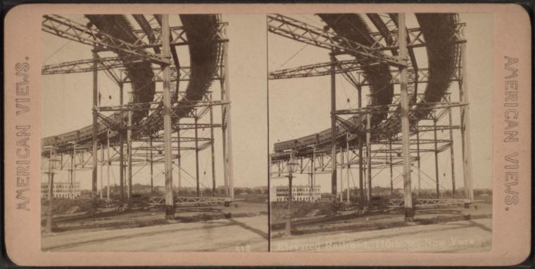 Elevated railroad, 110th st., New York.